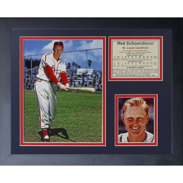 Red Schoendienst Framed Memorabilia by Legends Never Die