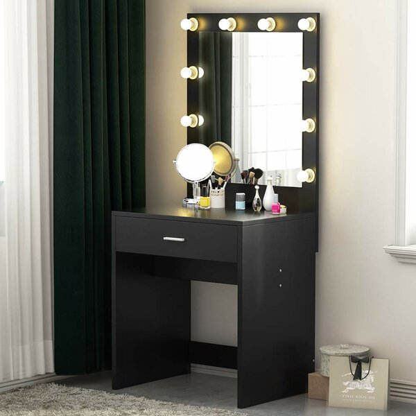 Jessie Vanity with Mirror by House of Hampton