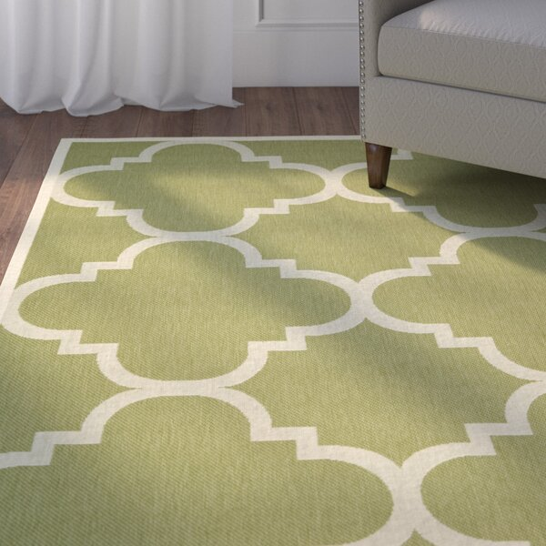 Short Green Area Rug by Winston Porter