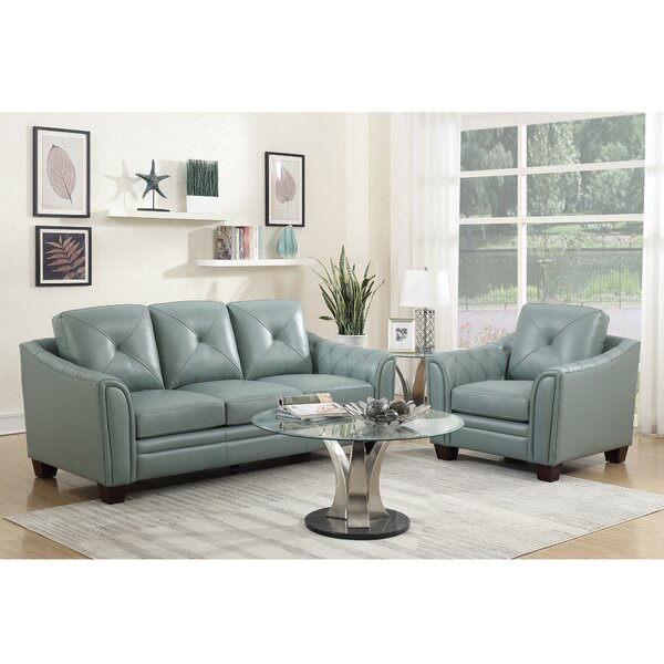 Chiang Top Grain Leather Configurable Living Room Set by Red Barrel Studio