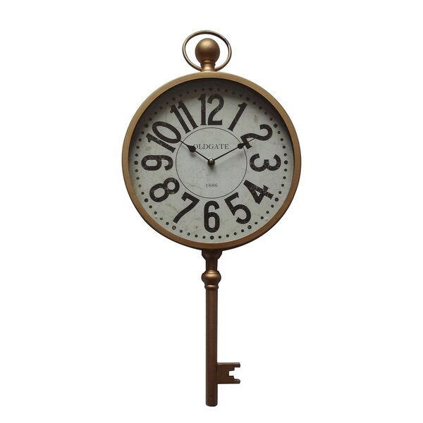Salvato Time Key 11.4 Wall Clock by Charlton Home