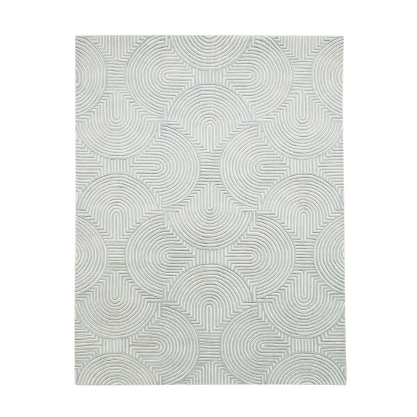 Arches Hand-Tufted Wool Blue/Ivory Area Rug by Global Views