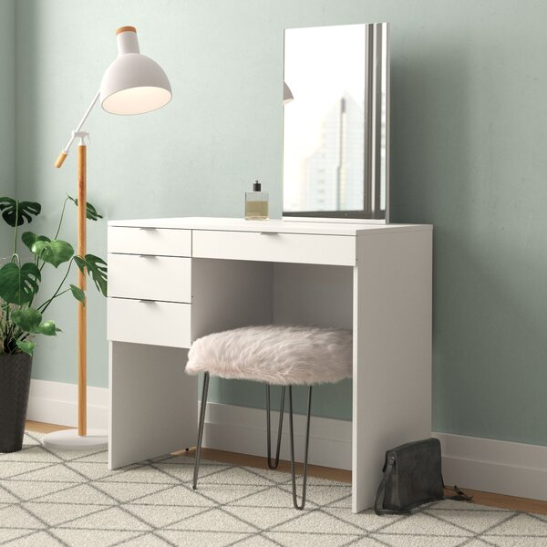 Helotes Vanity with Mirror by Ebern Designs