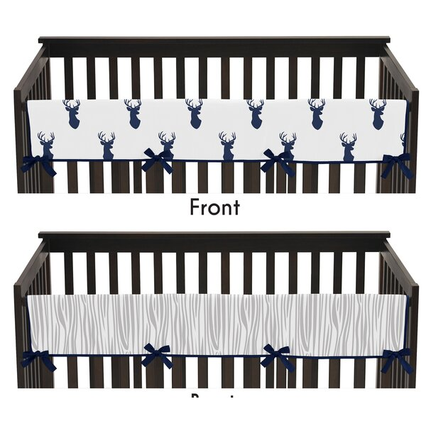 Woodland Deer Crib Rail Guard Cover by Sweet Jojo Designs
