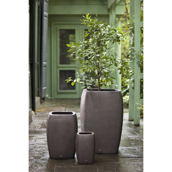 Notarangelo 3-Piece Fiberglass Pot Planter Set by 17 Stories