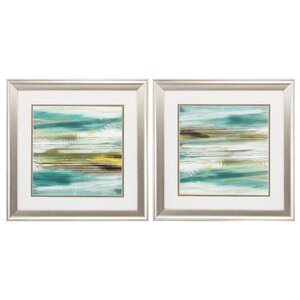 Tranquil 2 Piece Framed Painting Print Set by Propac Images