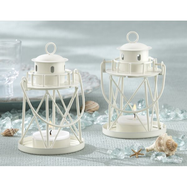 By the Sea Lighthouse Metal Lantern (Set of 8) by Kate Aspen
