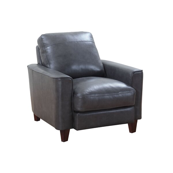 Izaiah Top Grain Leather Club Chair by 17 Stories 17 Stories
