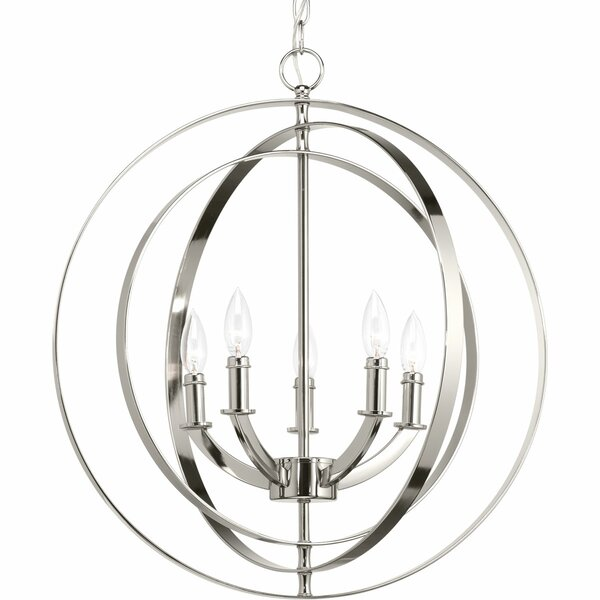Morganti 5 - Light Candle Style Globe Chandelier by Brayden Studio Brayden Studio