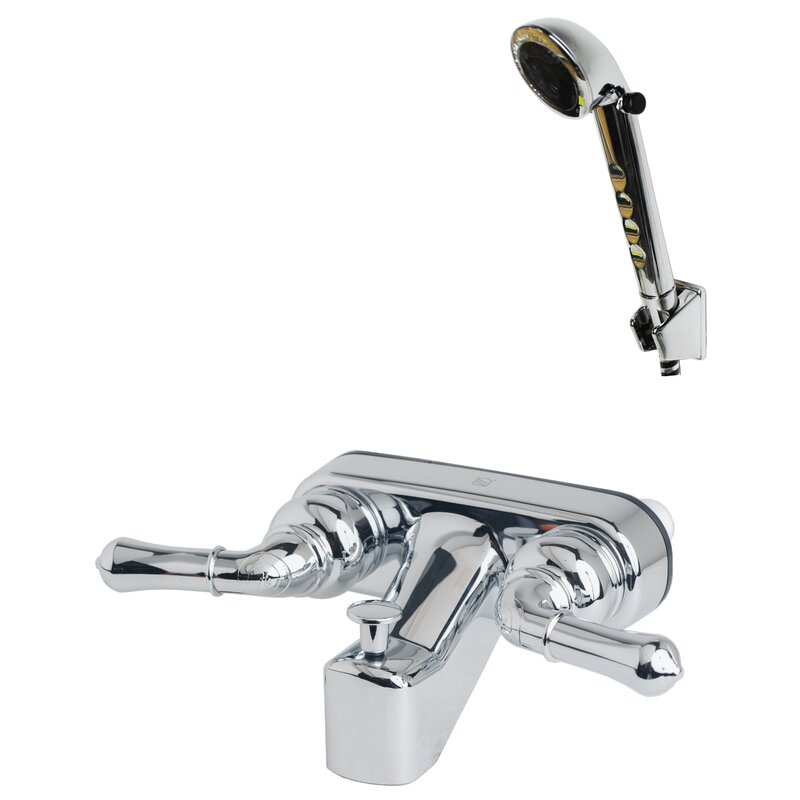 RV/Motorhome Replacement Non-Metallic Double Handle Wall Mounted Tub Spout Trim