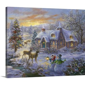 'Cottage' Painting Print on Wrapped Canvas by The Holiday Aisle