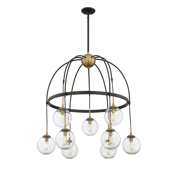 Yorba 9-Light Shaded Chandelier by Corrigan Studio