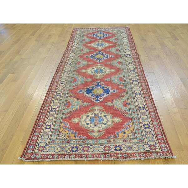One-of-a-Kind Bechtold Hand-Knotted Red Wool Area Rug by Isabelline