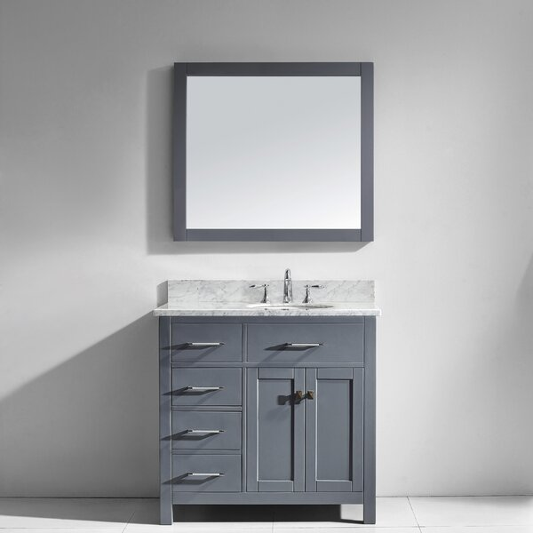 Savitsky 35 Single Bathroom Vanity Set with Mirror by Latitude Run