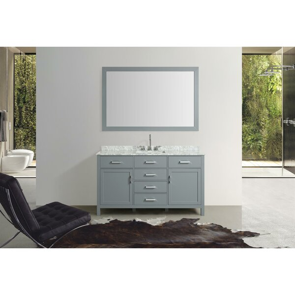 Weatherford 61 Single Bathroom Vanity Set with Mirror by Orren Ellis