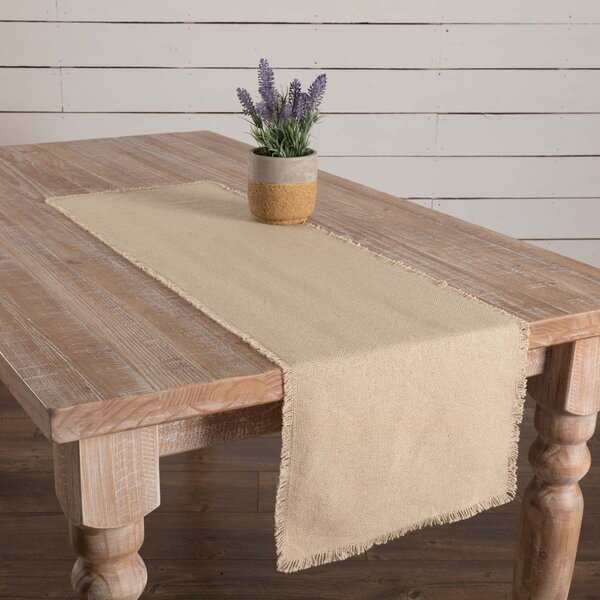 Corena Vintage Burlap Table Runner by Ophelia & Co.