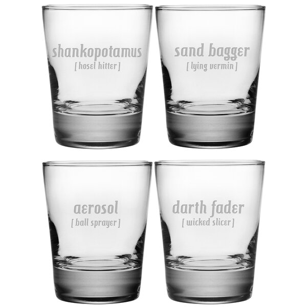 What a Shot Double Old Fashioned Glass (Set of 4) by Susquehanna Glass