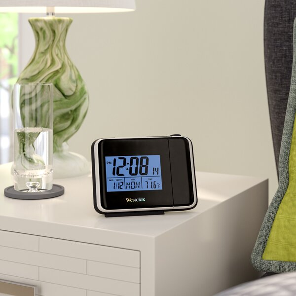 Digital LCD Projection Alarm Tabletop Clock by Latitude Run