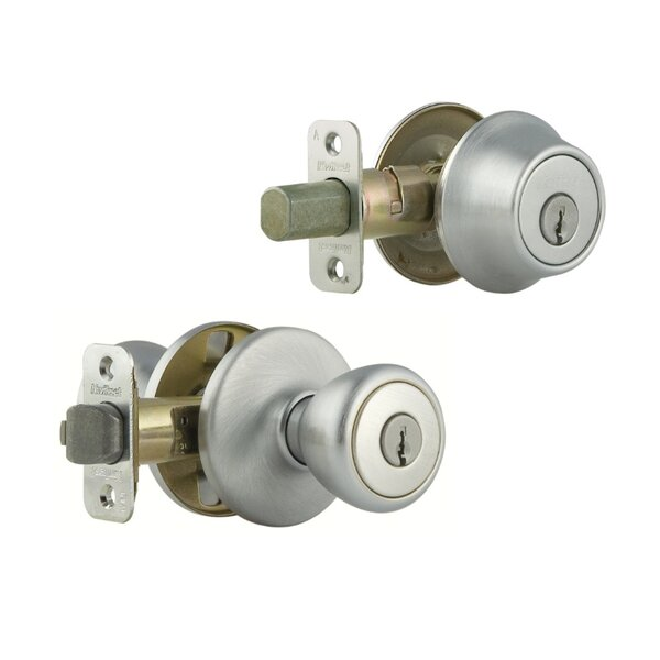 Tylo Single Cylinder Entrance Knobset by Kwikset