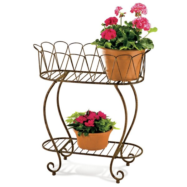 Oval Wave Plant Stand by Deer Park Ironworks