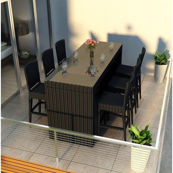 Urbana 7 Piece Sunbrella Bar Height Dining Set by Harmonia Living