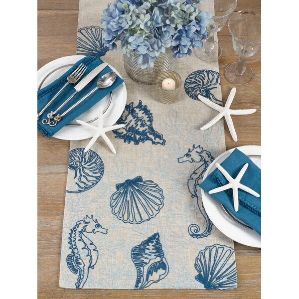 Araceli Under the Sea Table Runner by Highland Dunes