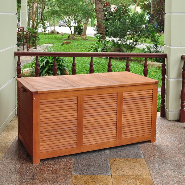 Outdoor Eucalyptus Deck Box by Atlantic Outdoor Atlantic Outdoor