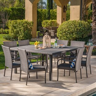 Vise Wicker 9 Piece Dining Set By Red Barrel Studio