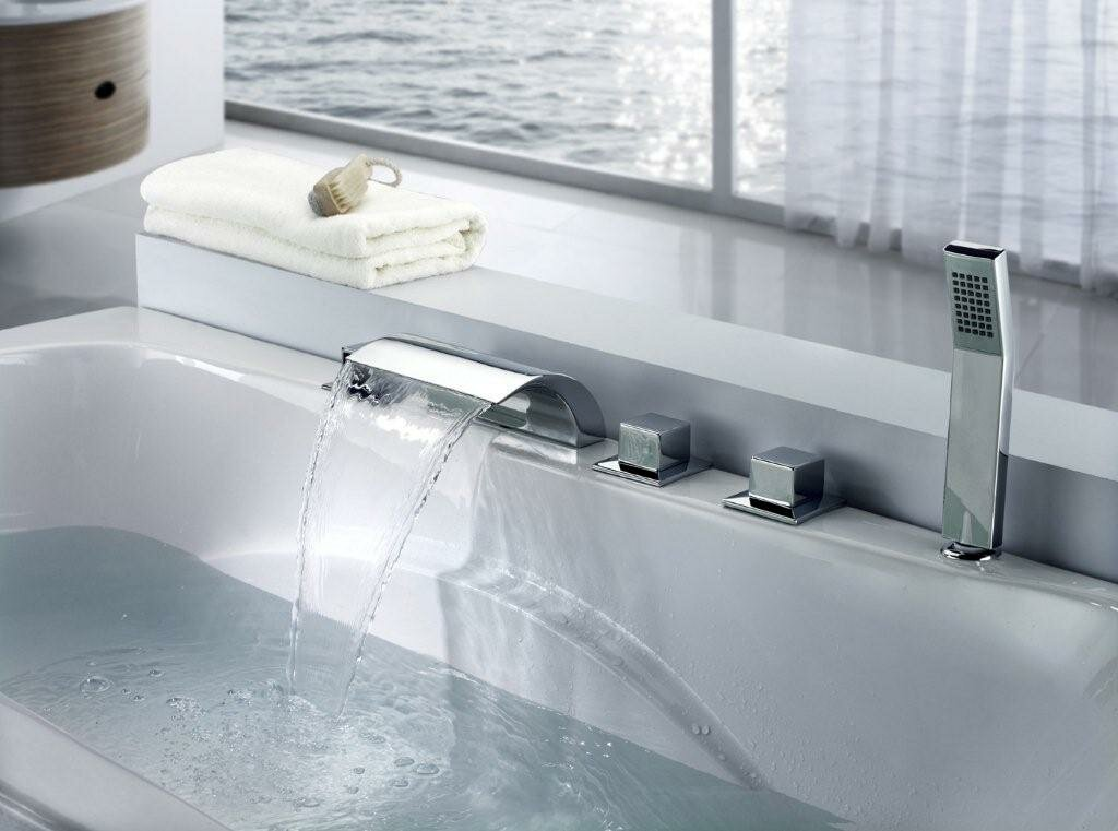 Jacuzzi Tub Waterfall Faucet | Wayfair