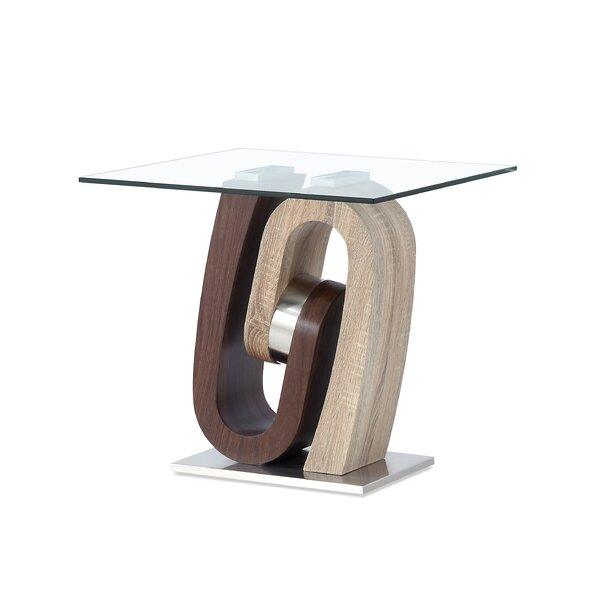 Claus End Table by Orren Ellis