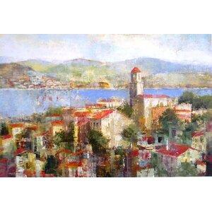 Villaggio by Michael Douglas Painting Print on Wrapped Canvas by Portfolio Canvas Decor