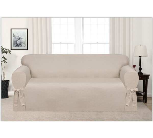 Box Cushion Sofa Slipcover by Ophelia & Co.