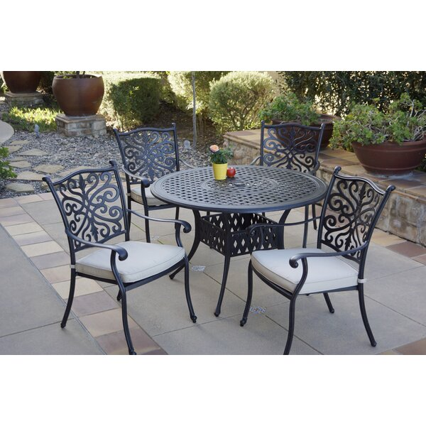 Bunn 5 Piece Dining Set with Cushions by Canora Grey
