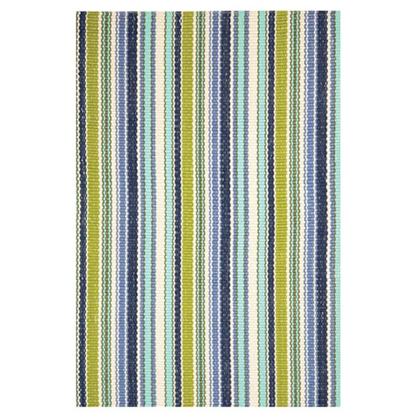 Handwoven Blue/Green/White Indoor/Outdoor Area Rug by Dash and Albert Rugs