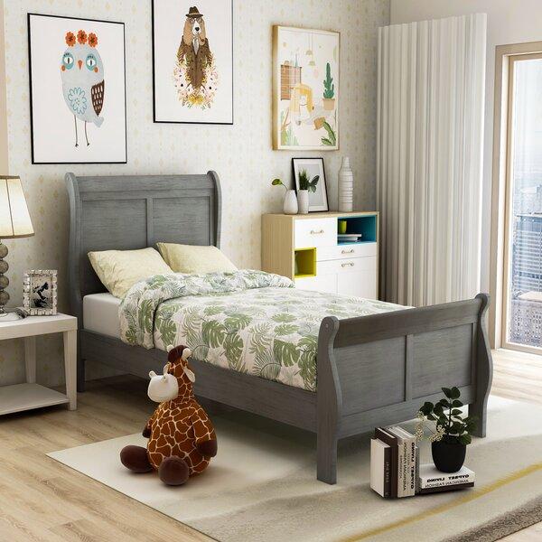 Machias Sleigh Bed by Charlton Home