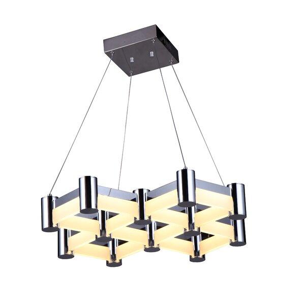Duell 4-Light LED Geometric Chandelier by Orren Ellis