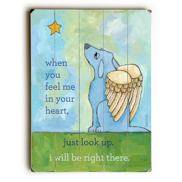 Blue Dog Angel Graphic Art by Artehouse LLC