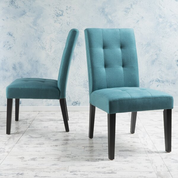 Heroux Upholstered Dining Chair (Set Of 2) By Latitude Run