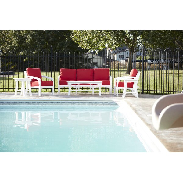 Clabaugh Seating Group with Cushions by Highland Dunes