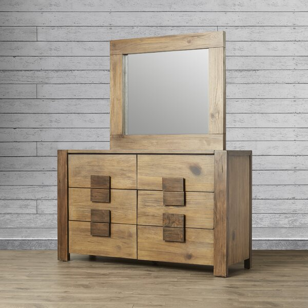 Elliston 6 Drawer Double dresser with Mirror by Loon Peak