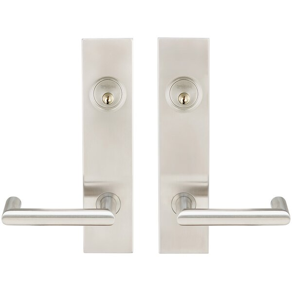 Stuttgart Double Cylinder Mortise Handleset by INOX®