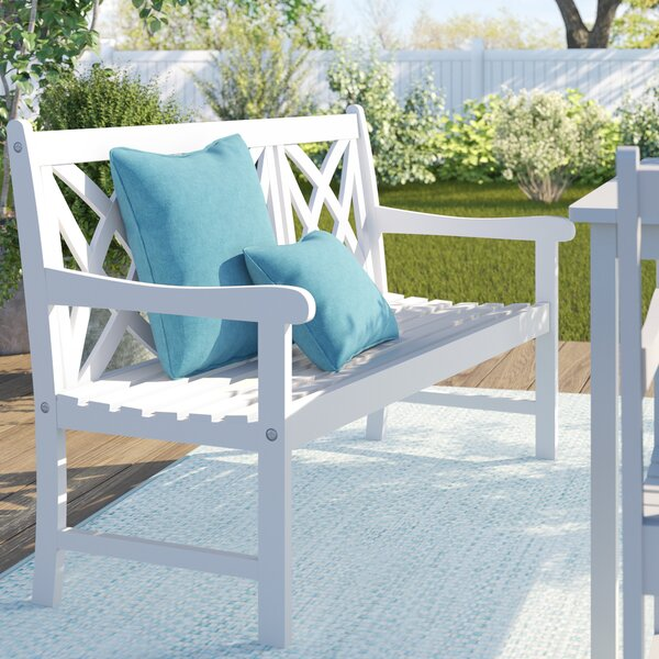 Andromeda Wooden Garden Bench By Beachcrest Home