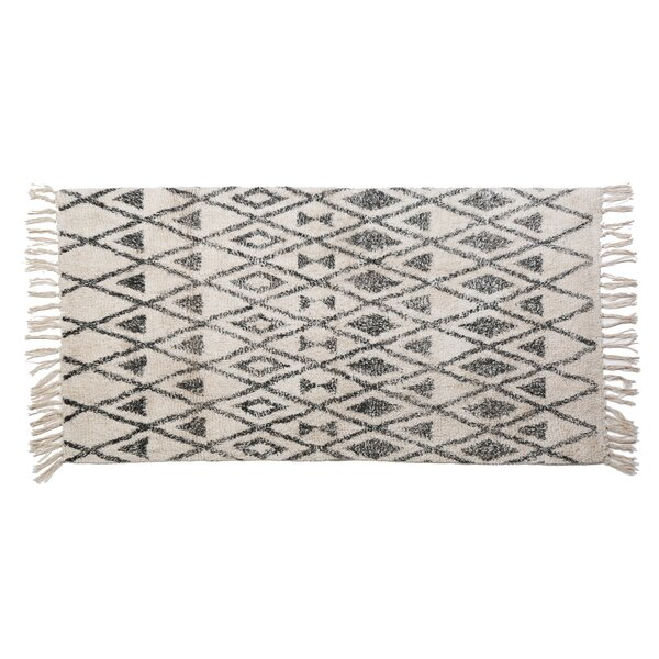 Monte Hand Woven Cotton Ivory/Gray Area Rug by Pom Pom At Home