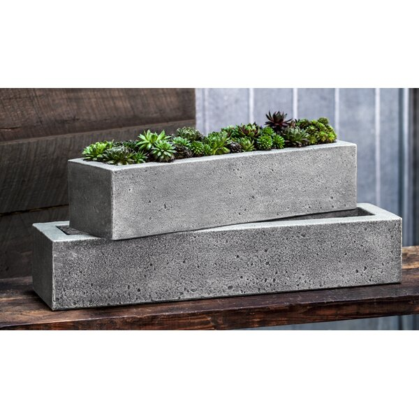Rollingwood Boye Cast Stone Planter Box by Greyleigh