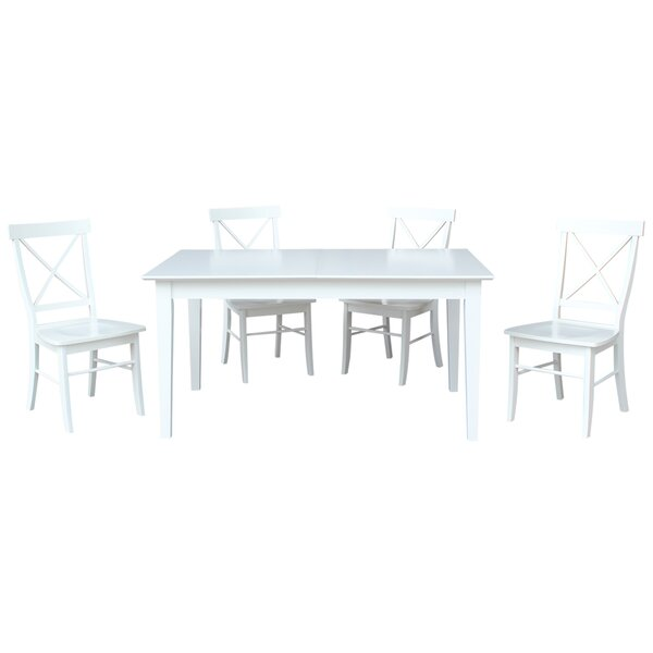5 Piece Extendable Solid Wood Dining Set by Sedgewick Industries Sedgewick Industries