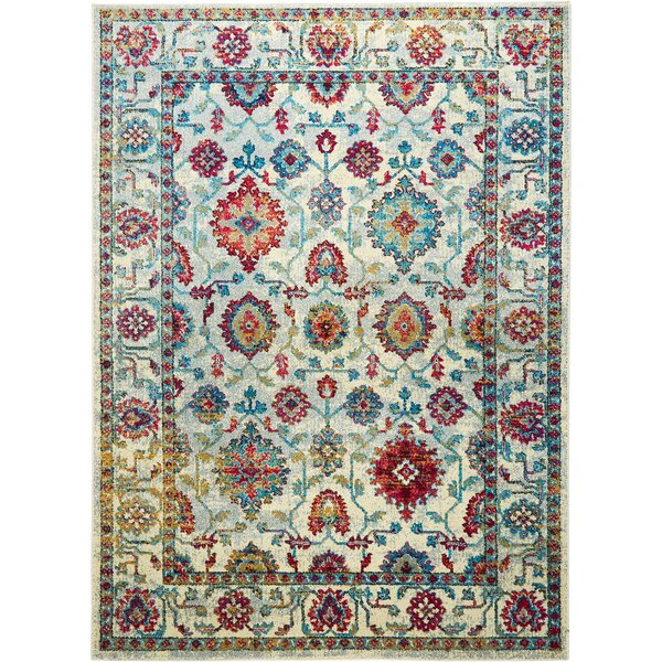 Moller Ronda Ivory/Red Area Rug by Bloomsbury Market