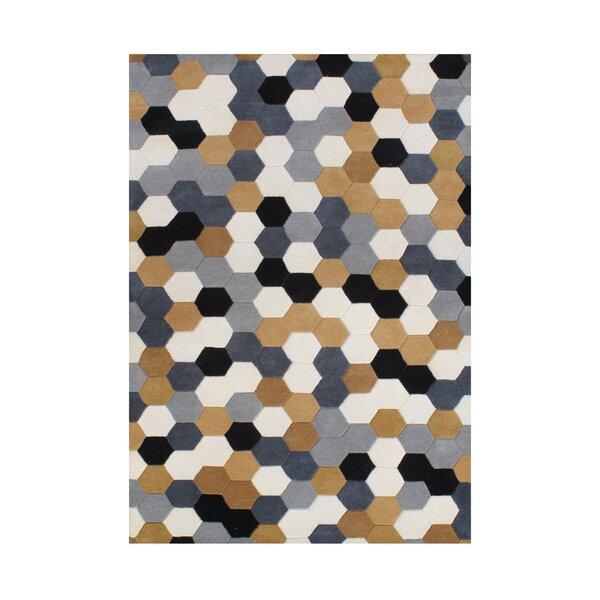 Kerrick Hand Tufted Wool Steel Gray Area Rug by Brayden Studio