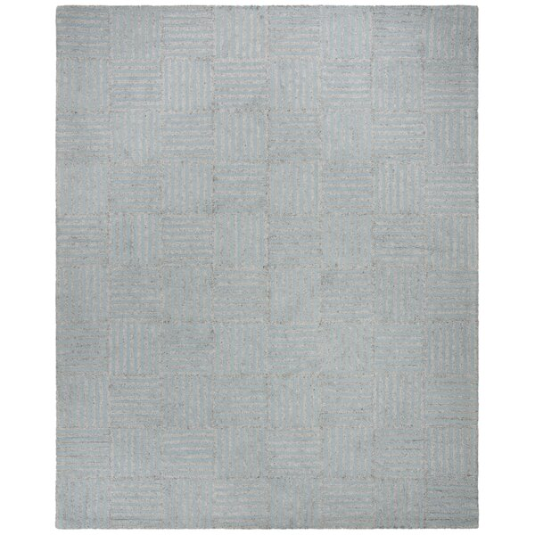 Brendan Hand-Tufted Blue/Gray Area Rug by Williston Forge