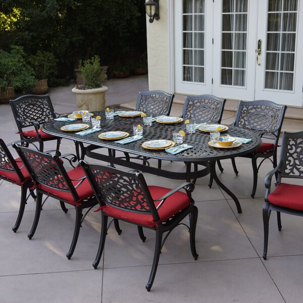 Appleby 9 Piece Dining Set with Cushions by Astoria Grand