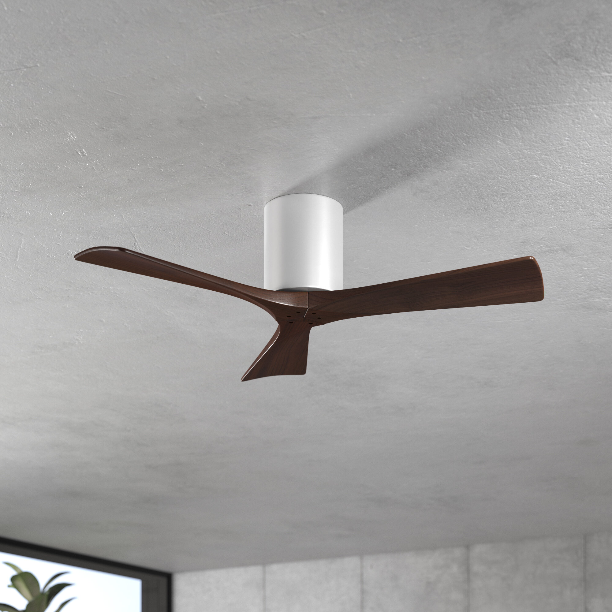 3 Blade Hugger Ceiling Fan With Remote